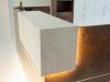 kleine Empfangstheke mit Beleuchtung Phonix-Dekor / opalgrau