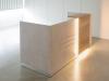 kleine Empfangstheke mit LED-Beleuchtung, opalgrau / Halifax-Eiche